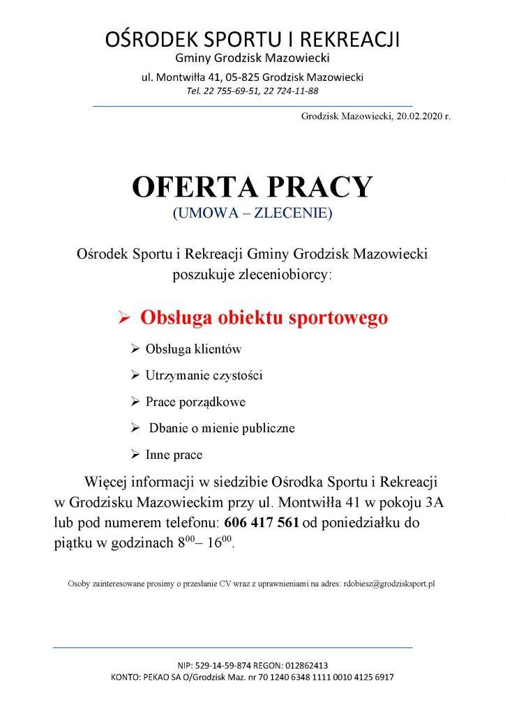 Oferta pracy w OSIR