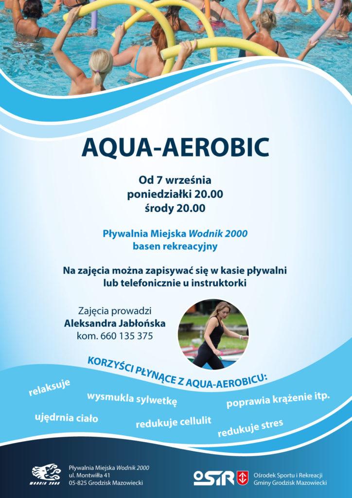 """Aqua Aerobic - Pływalnia Miejska """"Wodnik 2000"""" Grodzisk Mazowiecki"""