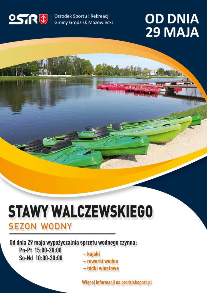 Sezon wodny 2021 na Stawach Walczewskiego - OSiR Grodzisk Mazowiecki