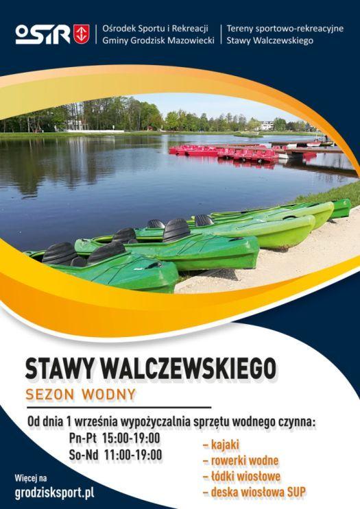 Wypożyczalnia sprzętu wodnego na Stawach Walczewskiego zmiany w godzinach otwarcia od 1 września 2021 r.