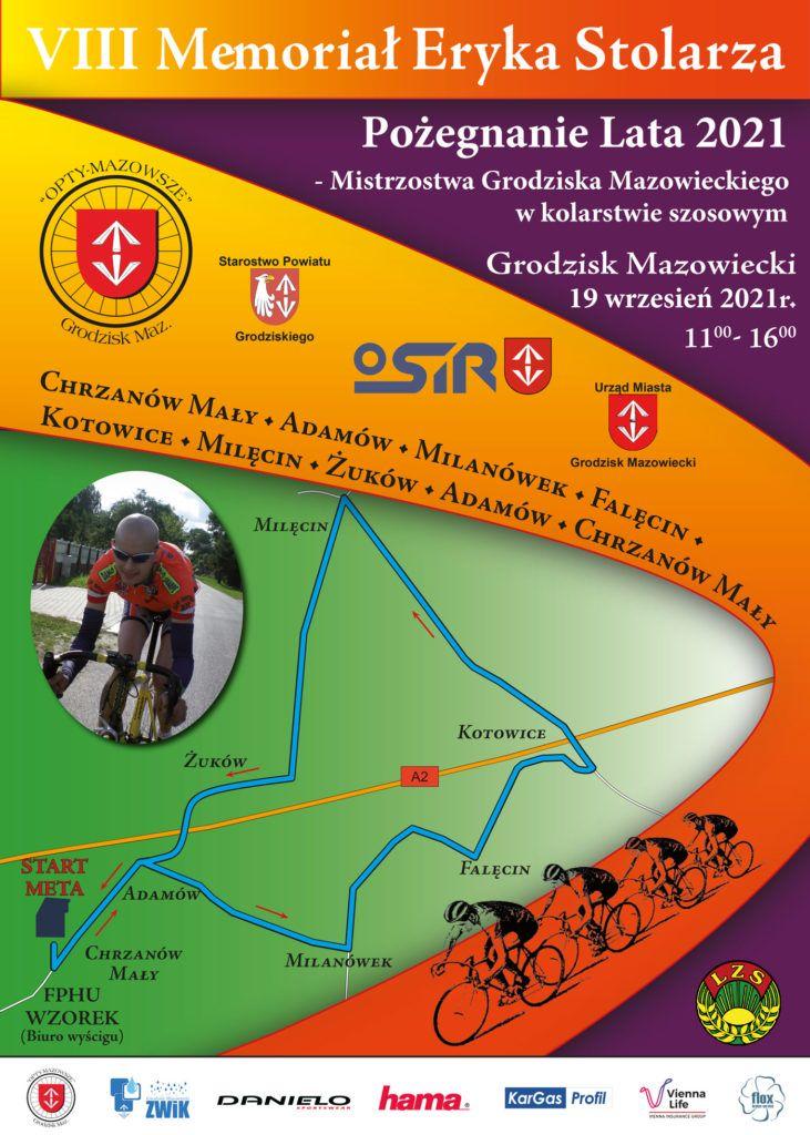 VIII Memoriał Eryka Stolarza - Pożegnanie Lata 2021 - Mistrzostwa Grodziska Mazowieckiego w kolarstwie szosowym - 19 września 2021 r.